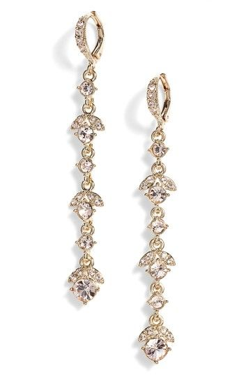 Crystal Linear Drop Earrings Gold Silk Givenchy Pinterest And Crystals