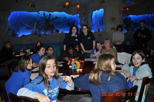 Girl Scouts and Marine Biologist   at Nashville Aquarium Restaurant Nashville, Tn