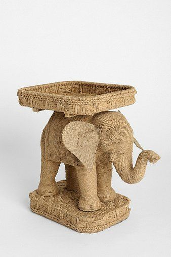 Shop Magical Thinking Jute Elephant Side Table At Urban Outfitters Today.