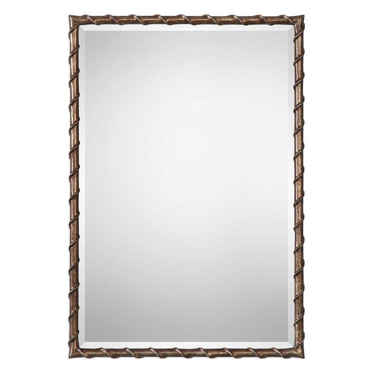 Uttermost Laden Bronze Mirror