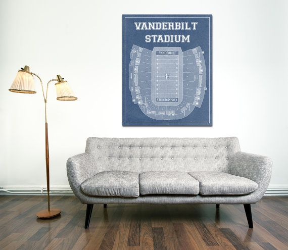 Here is a amazing blueprint of Vanderbilt Stadium, home of the Commodores   ORDER TIME FRAME -Photo and Matte Paper = 1-3 business days processing time