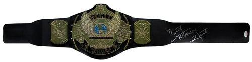 Bret The Hitman Hart Signed Classic WWE Winged Eagle Championship Toy Belt JSA
