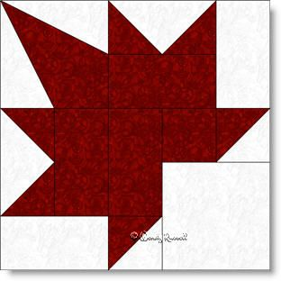 Maple Leaf quilt block pattern
