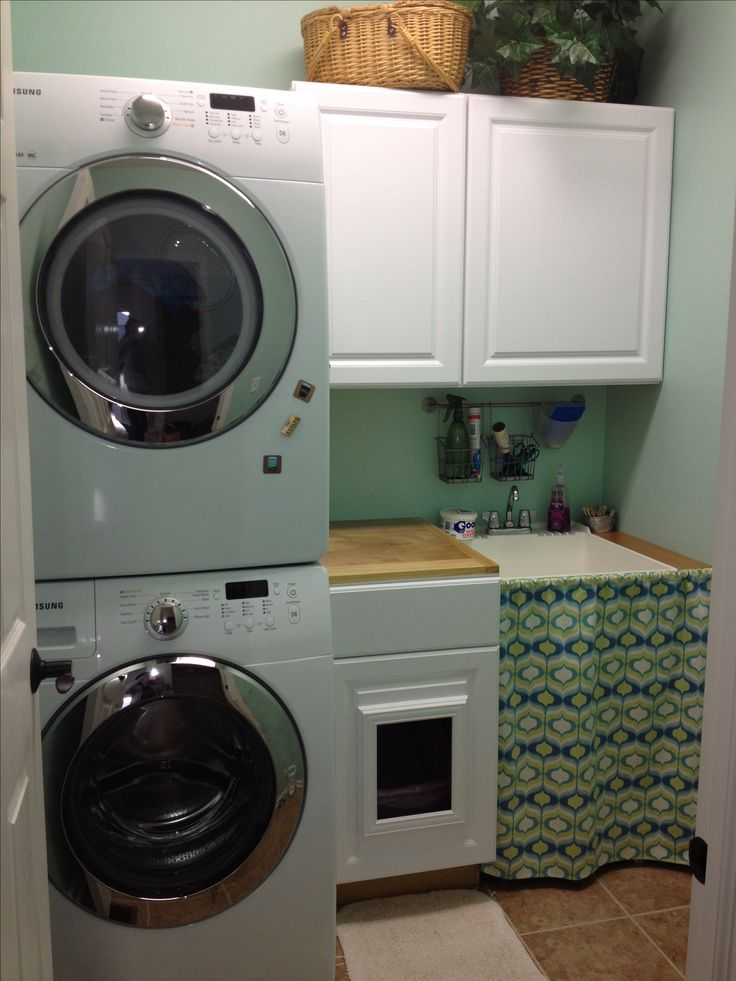 Best 25 stackable washer and dryer ideas on pinterest stacked washer dryer small laundry - Cat litter boxes for small spaces design ...