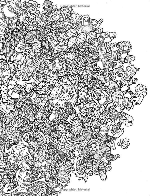 Doodle Fusion Zifflins Coloring Book Volume 2 Zifflin Lei Melendres