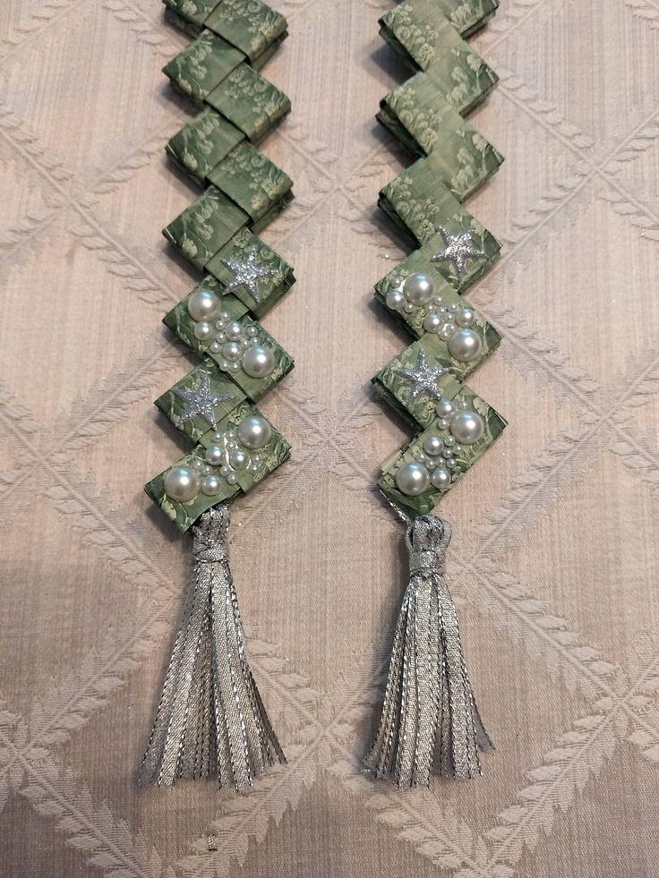 Money Lei, Wedding Lei, Bride Sash, Bridal Shower Gift, Wedding Gift, Handmade with Qty. 76 2 Dollar Bills, Pearls Silver Tassels, and Stars