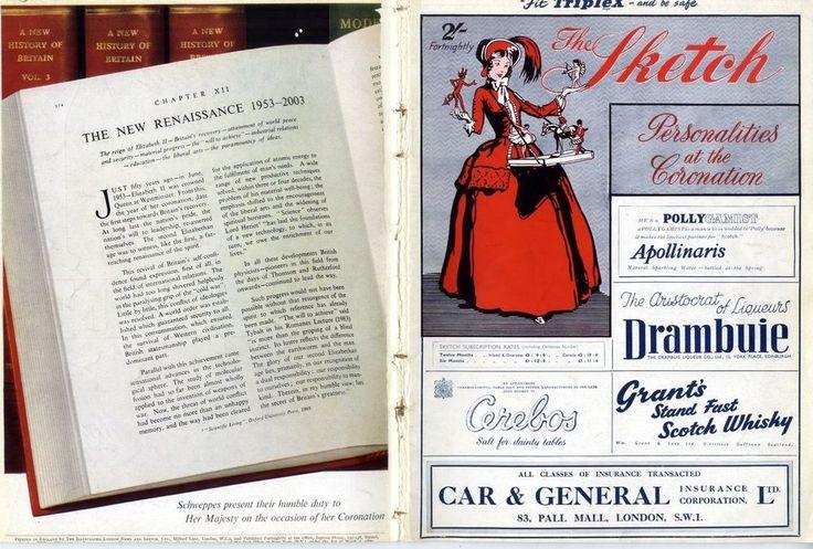 1953 THE SKETCH Magazine HELENE CORDET Peregrine Cavendish FASHION (5382)