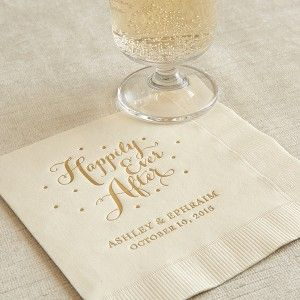 Make Your Wedding Day Extra Special With Custom Cocktail Napkins
