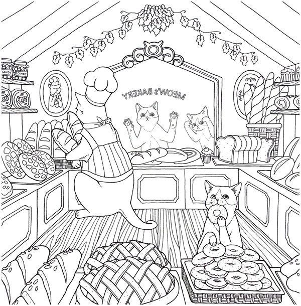 Cat Coloring Therapy Coloring Book Download in 2020 ...