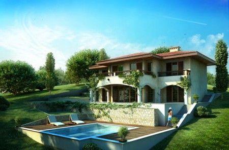 проект двухэтажного дома в испанском стиле