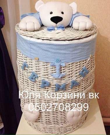 корзины плетеные из лозы для белья игрушек Черновцы - изображение 2