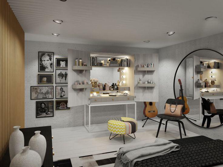 Dois apartamentos estilo loft com combine de contemporâneo e classic. ** Check out more at the picture link