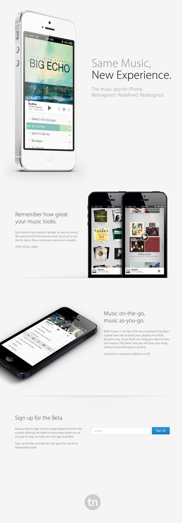 #iPhone Music #App by Travis Neilson, via #Behance #Mobile