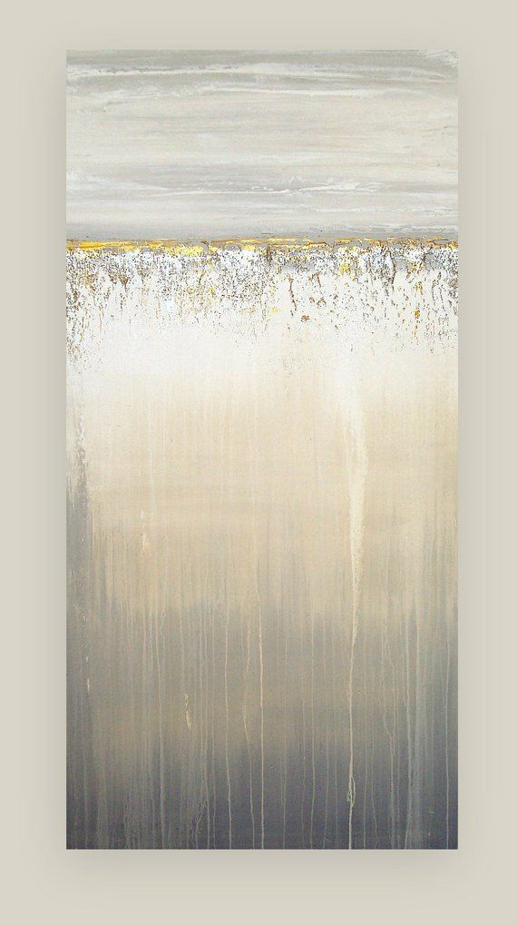 Silver and Gold Original Painting, Metallic Art, Glitter, Ora Birenbaum Art, Abstract, Acrylic Art Titled: Moonlighting 20x40x1.5″