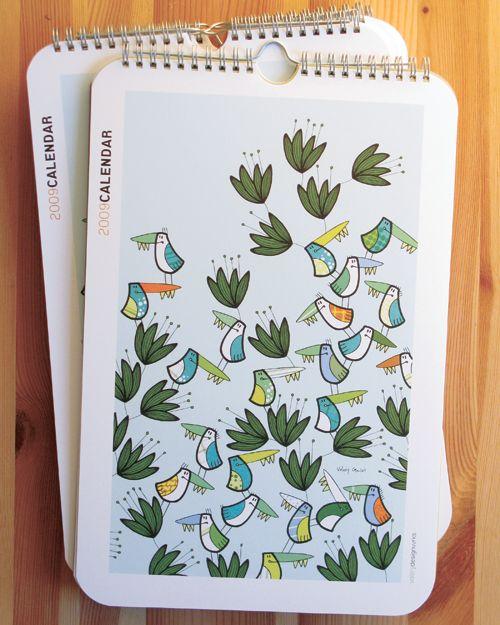 calendar: Prints Illustration, 2009 Wall, Calendar Boards, Birds Calendar, Birdz Prints, Valerie Goulet, Art, Graphics Design, Wall Calendar