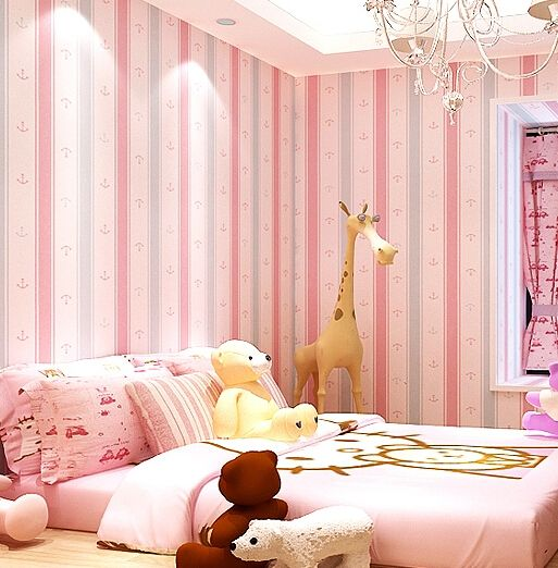 Mediterranean Cartoon Wood Striped Kids Room Wallpaper For: 17 Best Ideas About Pink Striped Walls On Pinterest