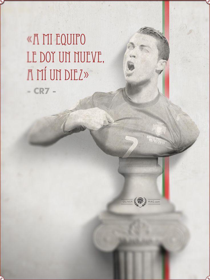 """I give myself 10 out of 10, I give my team a 9"" - #CristianoRonaldo #RealMadrid #Portugal #España #LigaBBVA #Declaraciones #Quotes #Frases #Futbol #Football #Soccer"