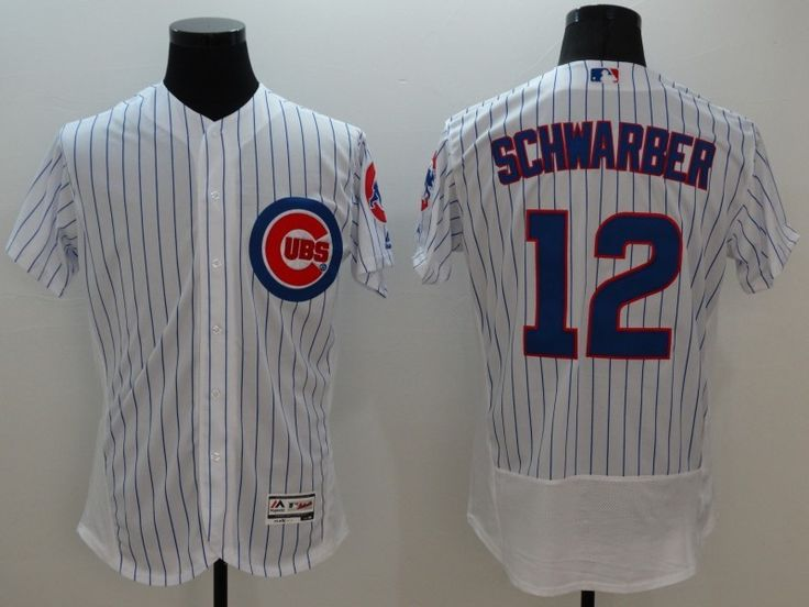majestic chicago cubs 12 kyle schwarber white stripe flexbase collection jersey .
