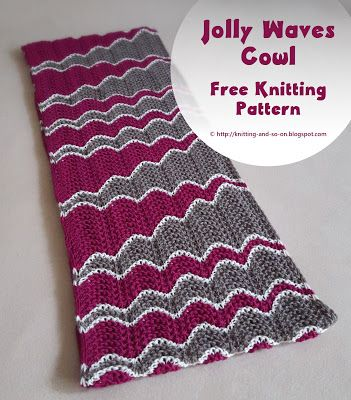 Jolly Waves Cowl - Free #knitting pattern by Knitting and so on