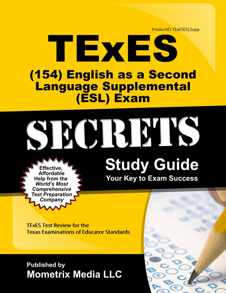 74 best texes study guides images on pinterest teacher stuff texes 154 english as a second language supplemental esl exam study guide sciox Choice Image