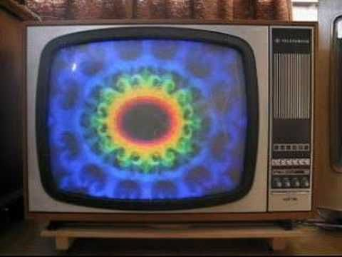 Colour TV  Telefunken color tv set from 1950 with ARD color logo