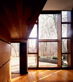 Esherick House, Pennsylvania, Louis Kahn // Interestingly, he specified Apitong, a Malaysian hardwood.