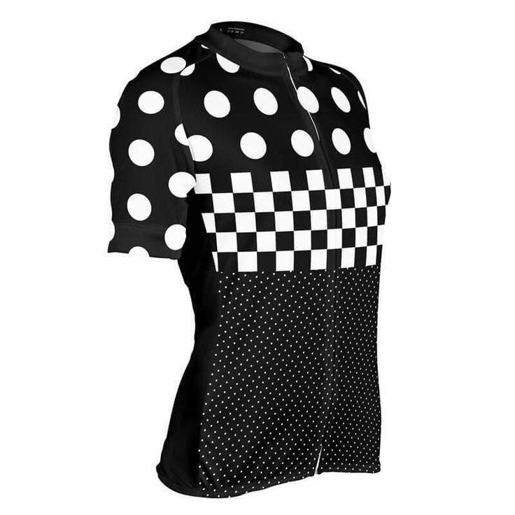 "Women's ""Nina"" Polka Dot Checkered Cycling Jersey-Online Cycling Gear"