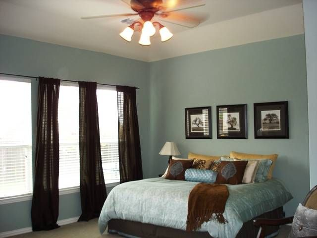 Chocolate And Mint Bedroom,~ Repinned By PeachSkinSheets