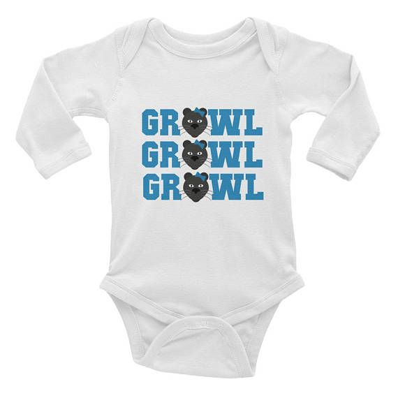 Carolina Panthers Growl Growl Growl Infant Long Sleeve Onesie