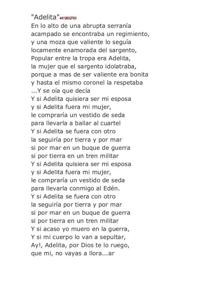 Canción de la Adelita
