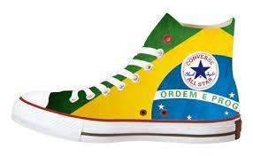 Converse bandiera brasile high