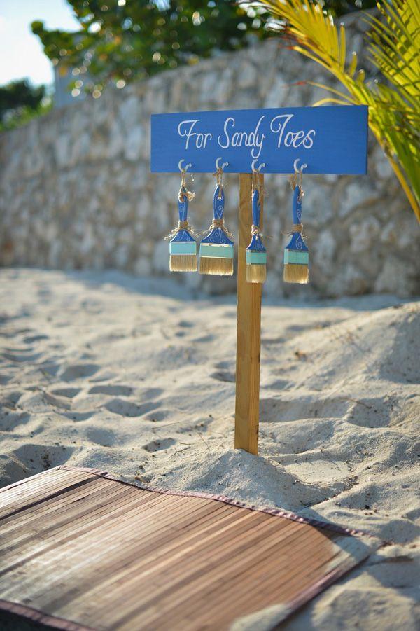 beach wedding sign ideas