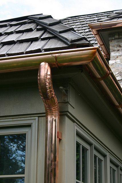 Copper gutters & downspouts