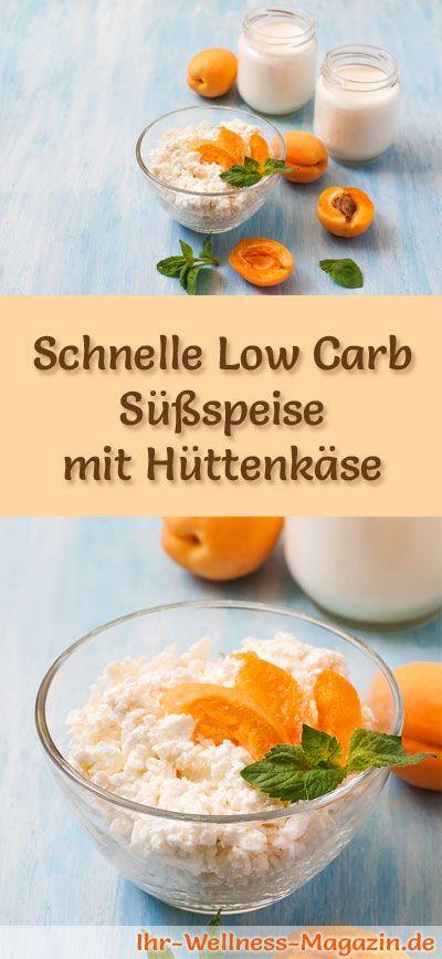 Schnelle Low Carb Süßspeise mit Hüttenkäse - ein einfaches Rezept für ein kalorienreduziertes, kohlenhydratarmes Low Carb Dessert ohne Zusatz von Zucker ...