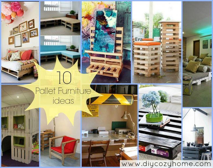 10 Pallet Furniture Ideas With Tutorials
