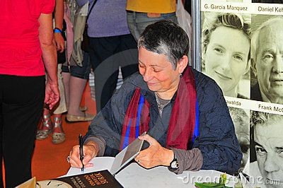 Ljudmila Ulickaja author dedicating her books in 16.th International Book Festival Guest of Honour