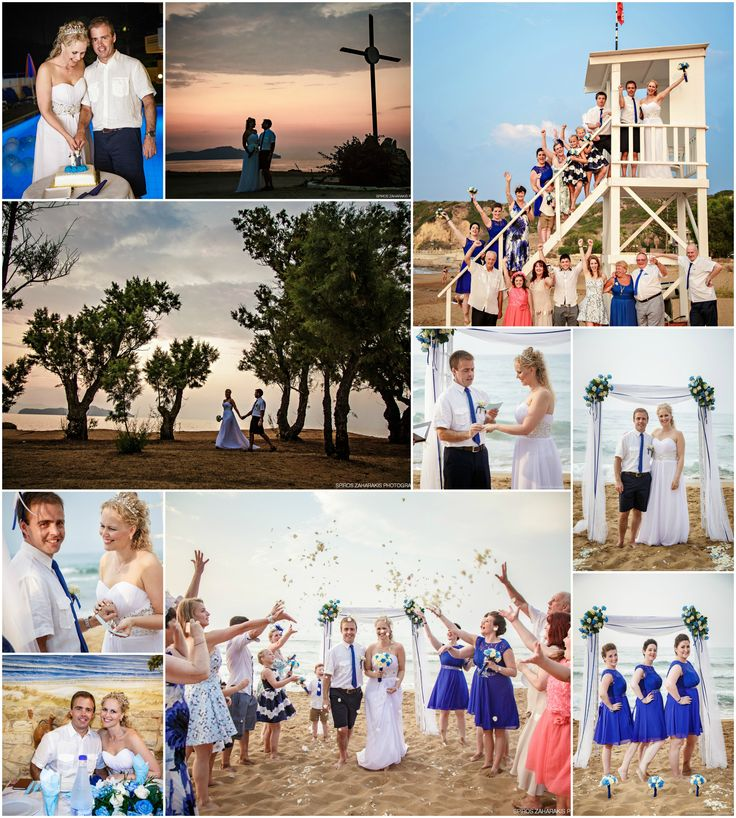 Navy blue is one of the best beach wedding themes as you can see from this gorgeous wedding in Chania