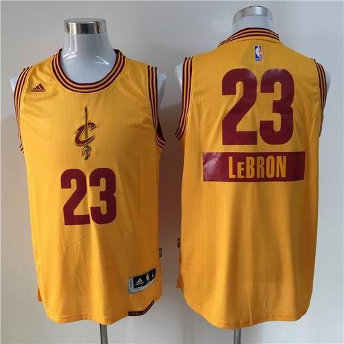 bb6146db1c72 ... Cleveland Cavaliers 23 Lebron James 2014-15 Christmas Day Swingman Road  Jersey Yellow 24.0 ...