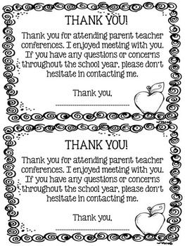FREEBIE-Editable-Parent-Teacher-Conference-Pack-1315168 Teaching Resources - TeachersPayTeachers.com