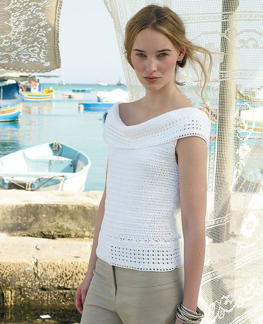 Free crochet pattern - Santorini by Marie Wallin in Rowan Siena 4 Ply: http://www.mcadirect.com/shop/rowan-siena-ply-100-cotton-p-2563.html