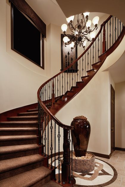 Foyer Stairs For Sale : Best ideas about curved staircase on pinterest grand