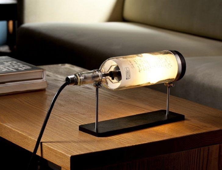 Mejores 59 imgenes de lamp lighting en pinterest luces de globo this diy led lit bottle table lamp is an eye catching addition for your living room aloadofball Choice Image
