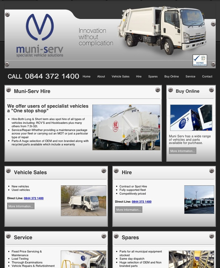 Muni Serv - Specialist Vehicle Solutions  Website developed and designed by www.online-guru.co.uk