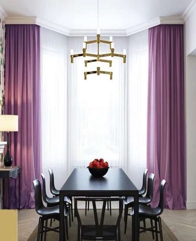 Lavender Purple Luxury Matt Velvet Curtains Custom Made Curtain
