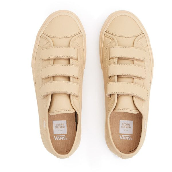 Vans for Opening Ceremony VT Prison Issue LX Sneaker ($115) ❤ liked on Polyvore featuring shoes, sneakers, waffle trainer, unisex shoes, cap toe shoes, waffle shoes and velcro closure shoes