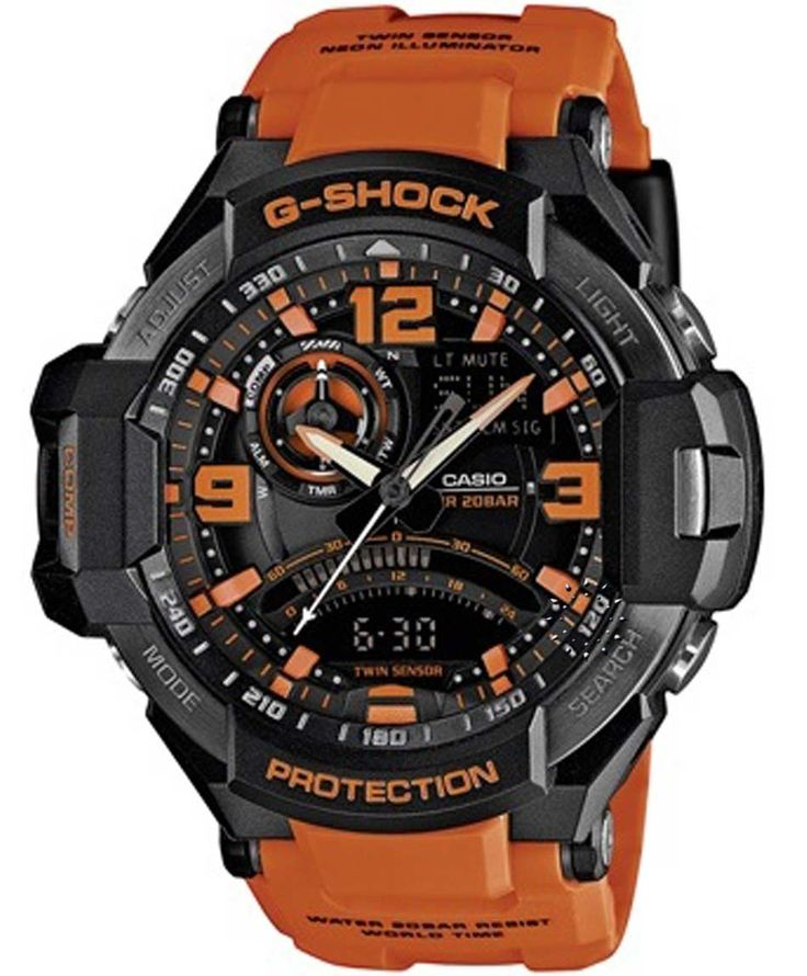 CASIO G-Shock Anadigi Orange Rubber Strap Η τιμή μας: 311€ http://www.oroloi.gr/product_info.php?products_id=35553