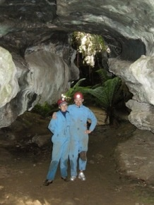 Honeymoon couple on a Wild Cave Tour