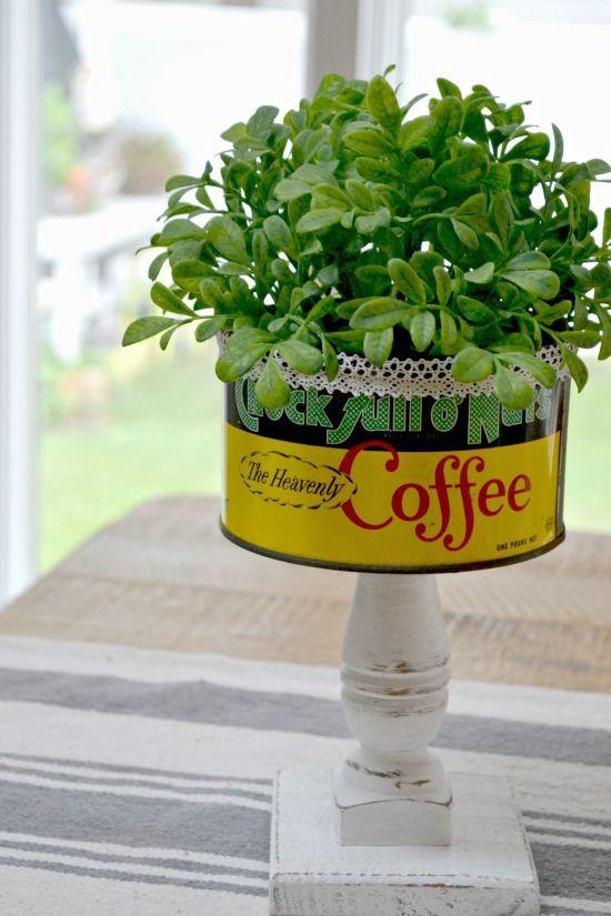 Repurpose A Vintage Coffee Can Vintage Coffee Coffee