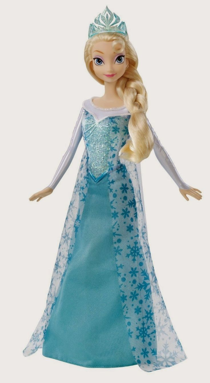 """Disney Frozen Sparkle Princess Elsa Doll Your children will love re-creating Elsa's icy cool adventures in Arendelle. Singing her song """"Let It Go"""". I am sure most children know that song off by heart already. http://livinggood-entrepeneural.blogspot.com/2014/10/toys-for-girls.html"""