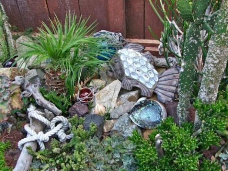 45 Best Gardening Ideas: Mermaid And Beach Themed Fairy Garden Part 58